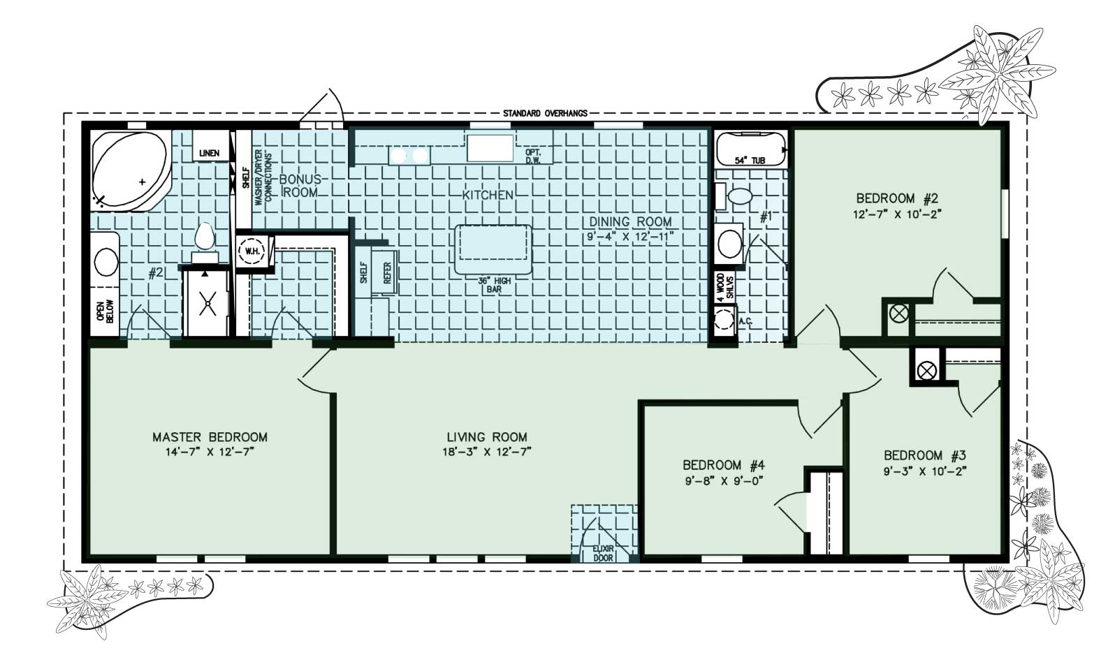 Floor Plan for Magnolia