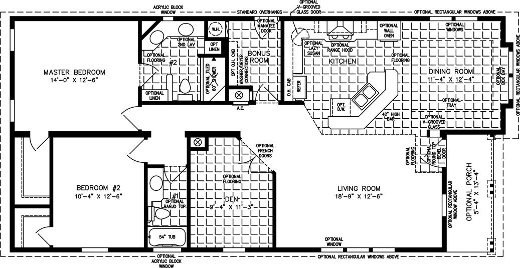 Floor plan for tnr 6563b suncrest homes full service for House plans under 1400 square feet