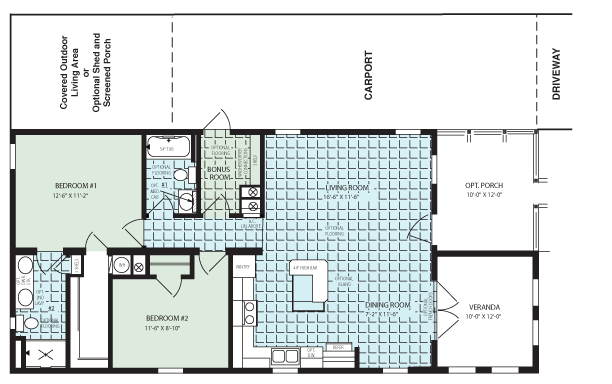 Floor Plan for Key Largo