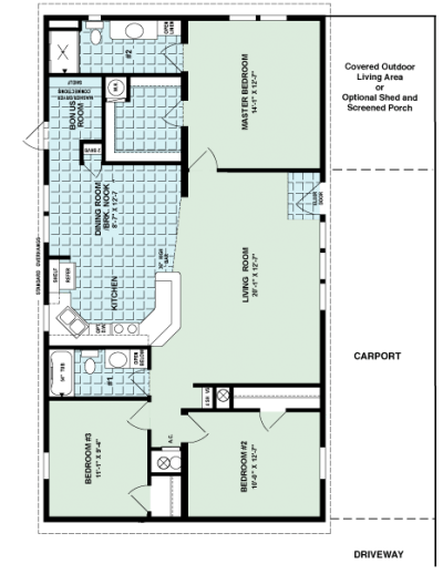 Magnolia Model Home Floor Plan