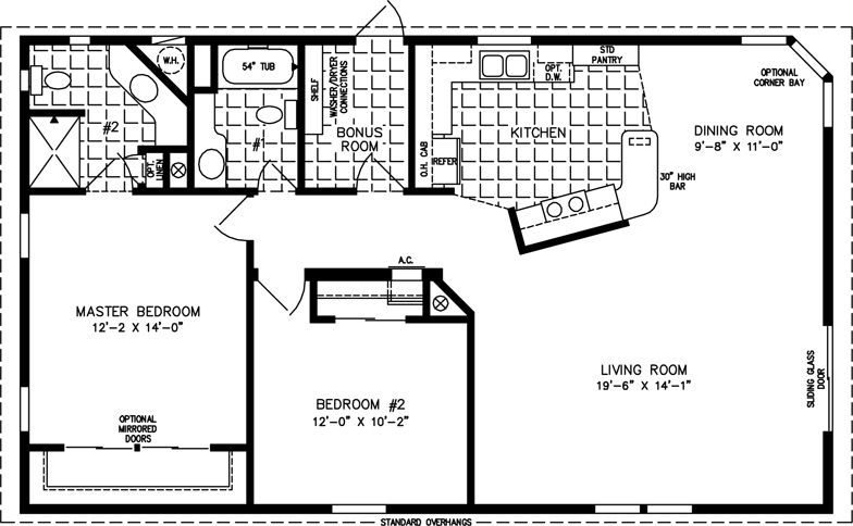 Floor Plan For Tnr 2453b Suncrest Homes Full Service Manufactured Home Sales